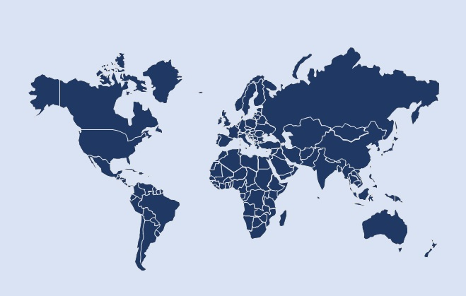 Heres A Beautiful Editable World Map For PowerPoint Free - Map of worlf