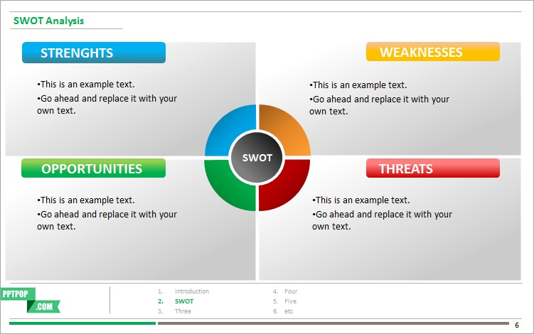 Heres A Beautiful Editable SWOT Analysis PPT Template – Word Swot Template