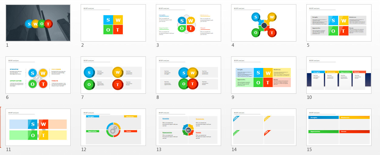 Editable swot analysis powerpoint template free heres screenshot of the swot template pack toneelgroepblik Images