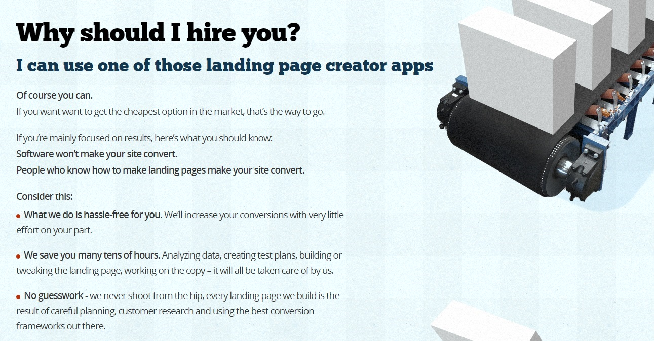 Landing page makeover
