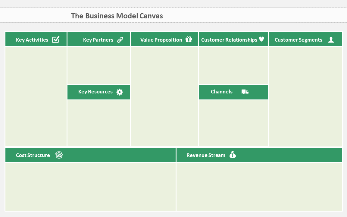 Heres a beautiful business model canvas ppt template free presentation template business model canvas accmission Image collections