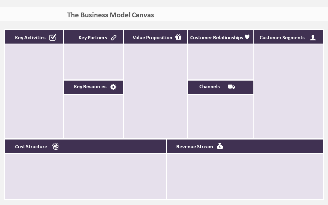 Heres a beautiful business model canvas ppt template free how to download your business model canvas powerpoint template accmission Image collections