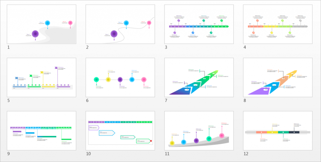 A Beautiful Editable PowerPoint Timeline Template Free - Free powerpoint timeline templates