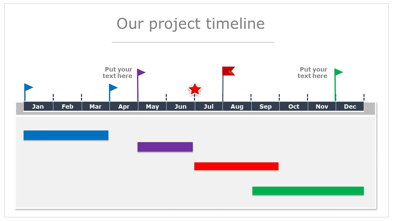 Get This Beautiful Editable PowerPoint Timeline Template Free - Project timeline powerpoint template