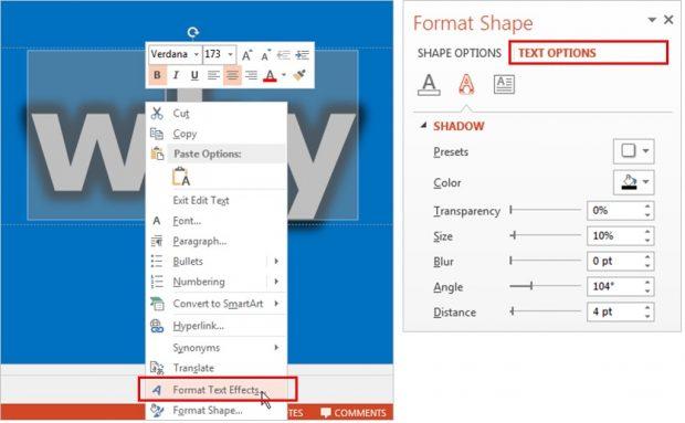 Text Effect Technique