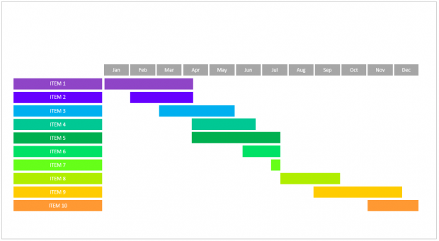 project calendar slide