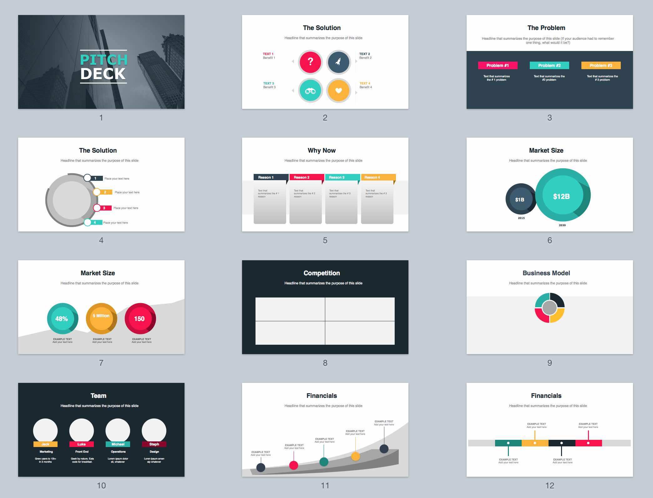 Business Pitch Presentation Example Maggilocustdesignco - Awesome free pitch deck template scheme