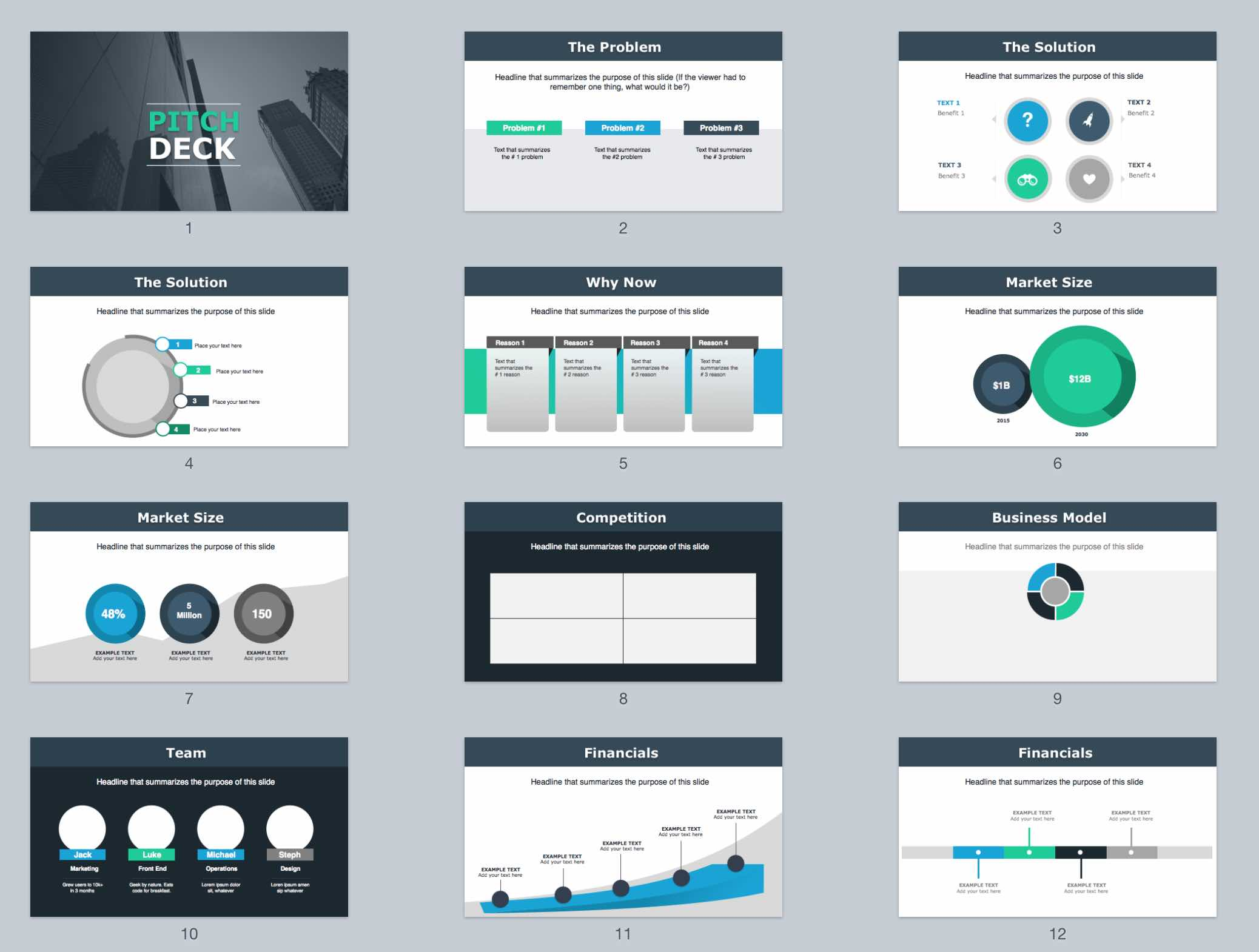 the best pitch deck template ever (ppt & keynote), Presentation templates