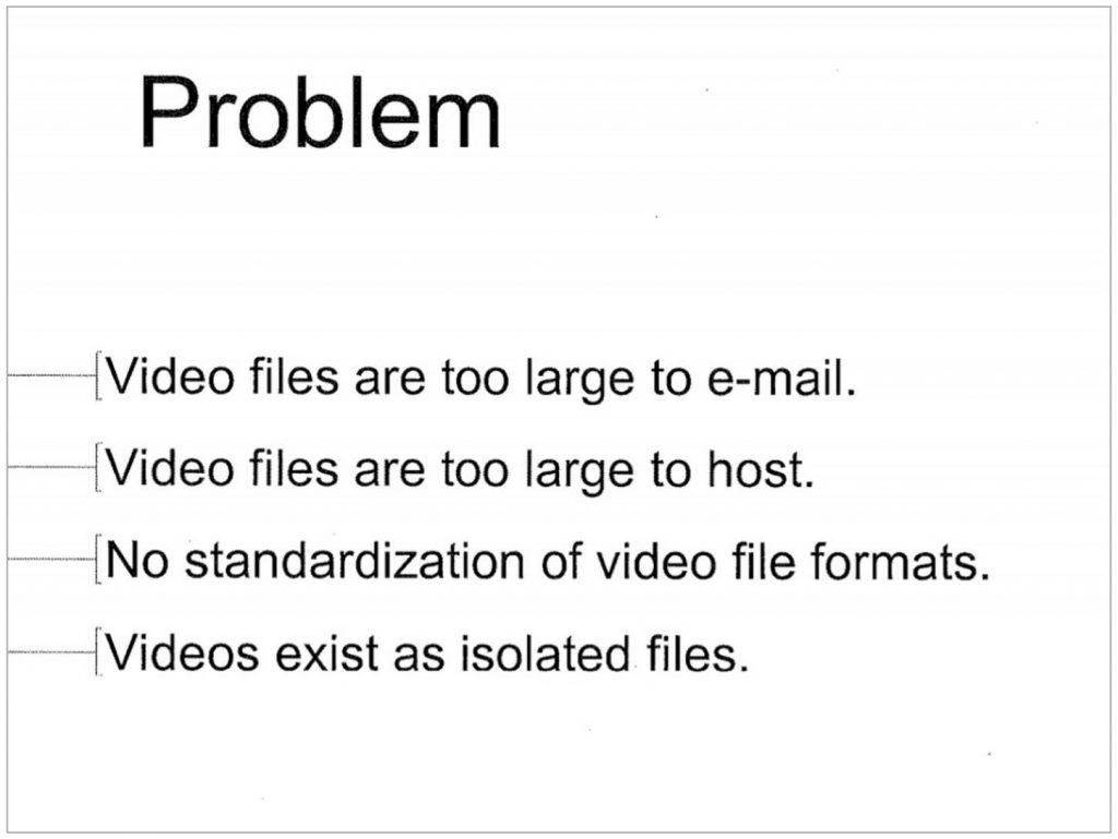 Youtube pitch deck problem