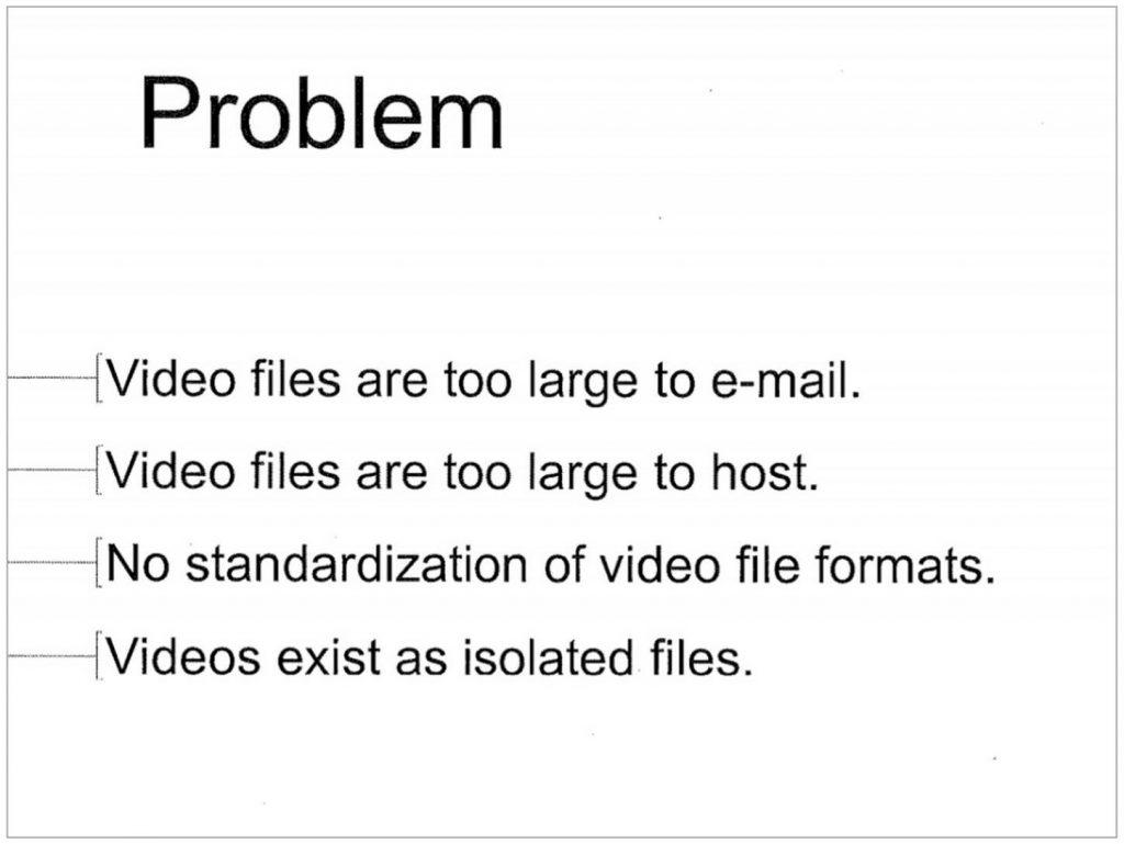 Youtube pitch deck problem