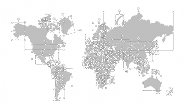 Heres a beautiful editable world map for powerpoint free world map ungrouped gumiabroncs Gallery