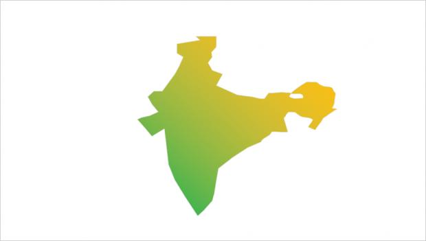 india map gradient