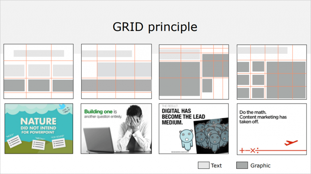 grid principle slide lay out basics