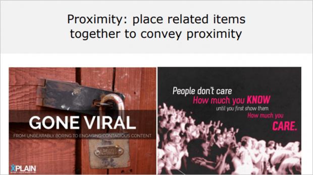crap principle - proximity