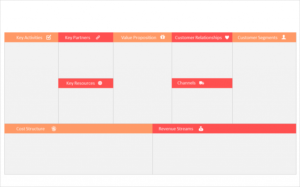 The best business model canvas presentation template free business model canvas ppt template slide flashek Image collections