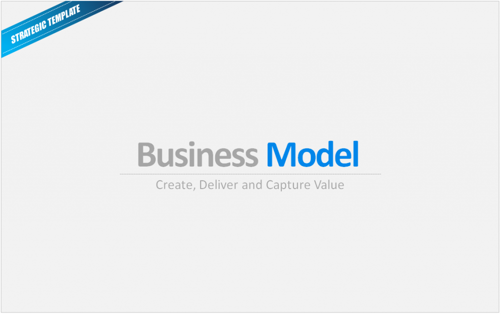 Business Model Canvas Cover Slide