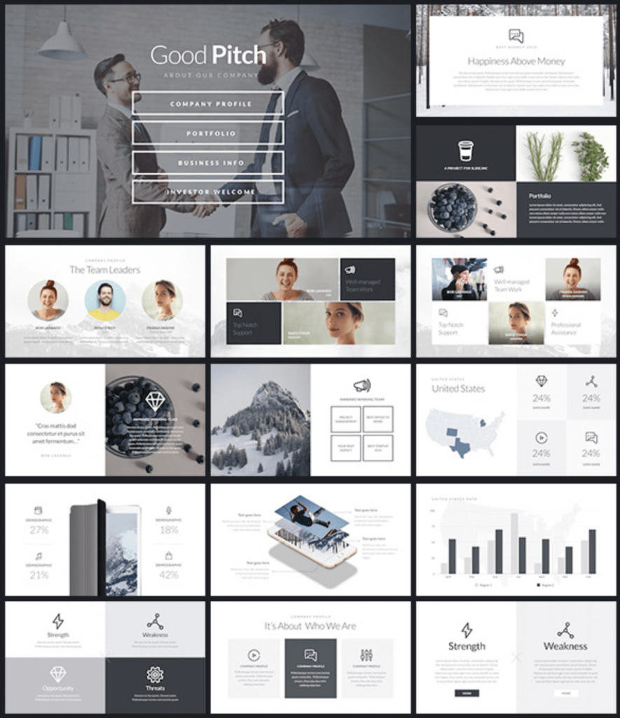 12 best presentation templates of 2018 for ppt keynote for Agency pitch template