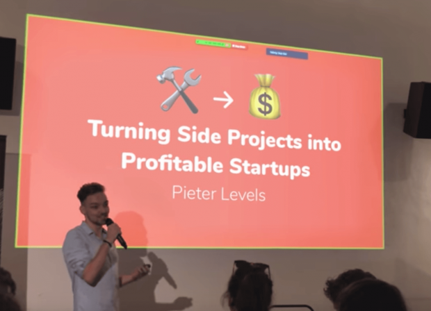 Pieter Levels Speech Cover Slide