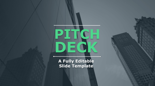 Pitch Deck Template Cover