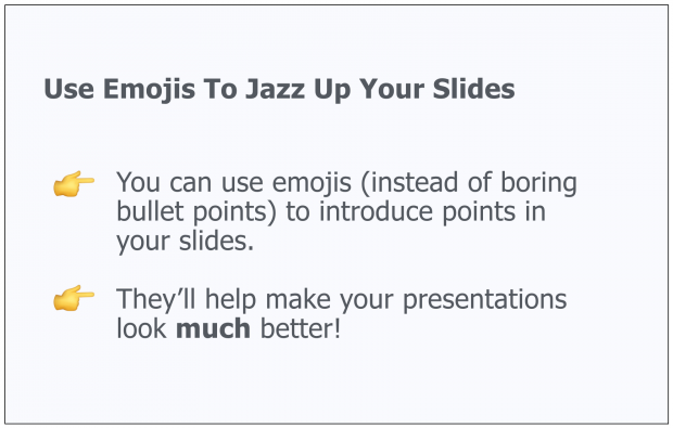 Use Emojis As a Creative Presentation Idea