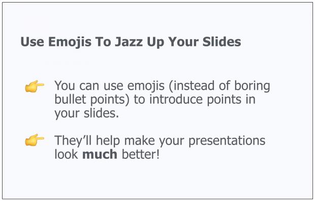 Use Emojis As a Creative Presentation Idea