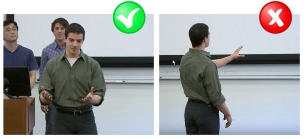 correct standing pose for public speaking