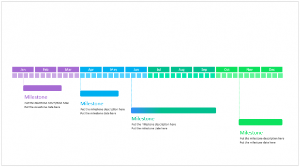 A Beautiful Editable Powerpoint Timeline Template Free