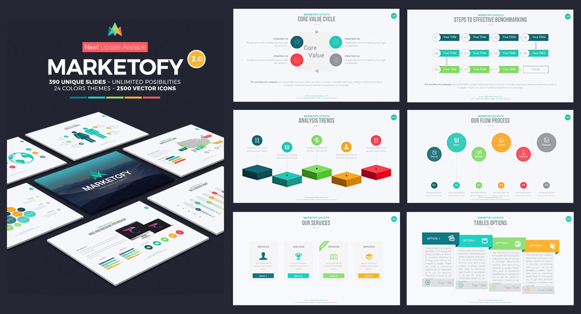 Creative Presentations 41 Powerful Techniques Ideas Title Star 6 Keywords Ppt Powerpoint Drawing Diagrams Templates Marketofy Template
