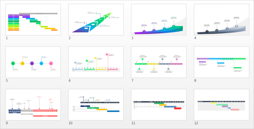 A Beautiful Editable Project Plan Powerpoint Template Free