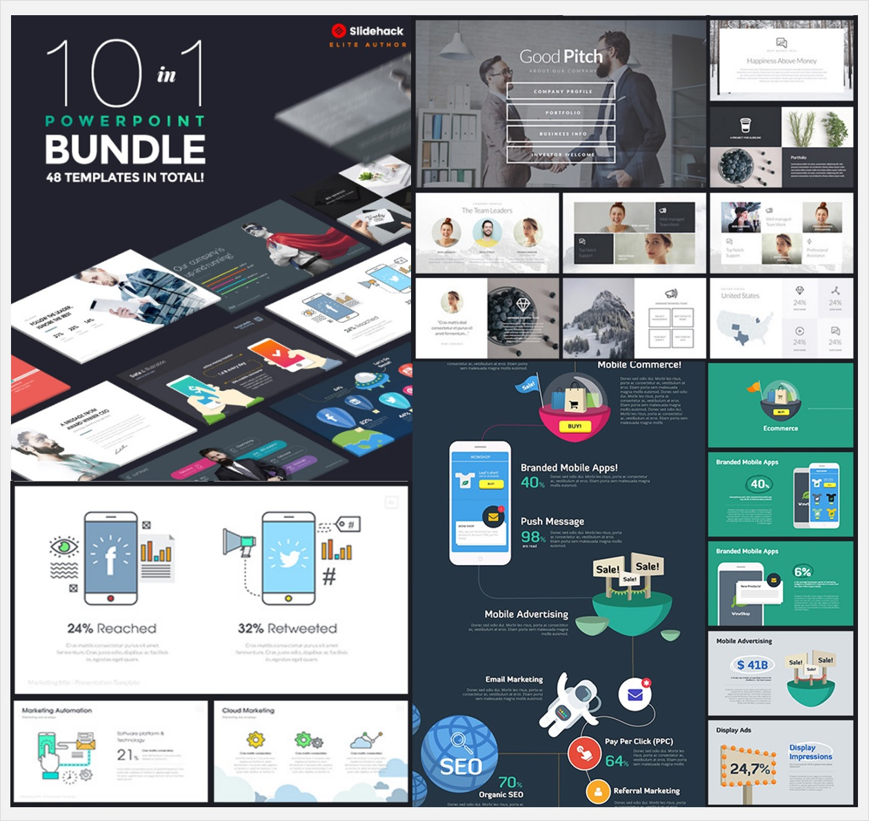 10 in 1 Pitch Bundle Template